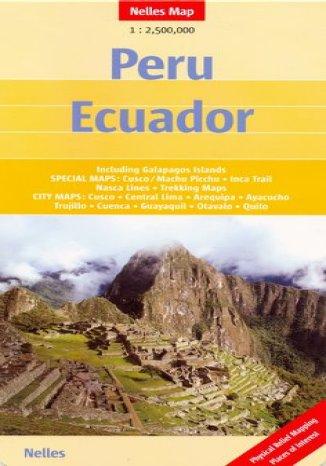 Okładka książki Peru. Ekwador. Mapa