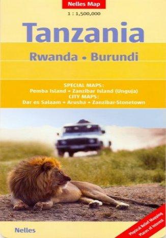 Okładka książki Tanzania. Rwanda, Burundi. Mapa
