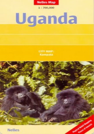 Okładka książki Uganda. Mapa