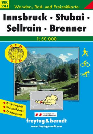 Okładka książki Innsbruck, Stubai. Mapa turystyczna