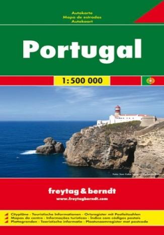 Okładka książki/ebooka Portugalia. Mapa 1:500 000