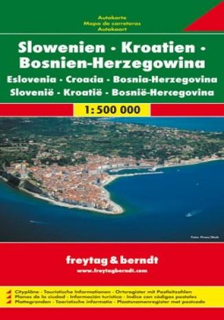 Okładka książki Słowenia Chorwacja Bośnia i Hercegowina. Mapa 1:500 000