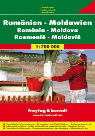Okładka książki Rumunia Mołdawia. Mapa 1:700 000
