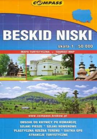 Okładka książki Beskid Niski. Mapa 1:50 000