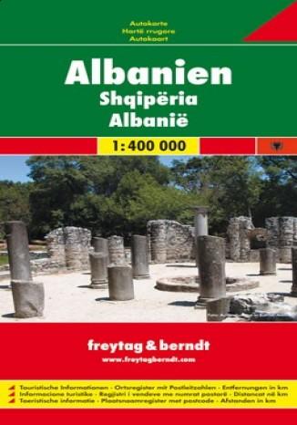 Okładka książki/ebooka Albania. Mapa samochodowa 1:400 000