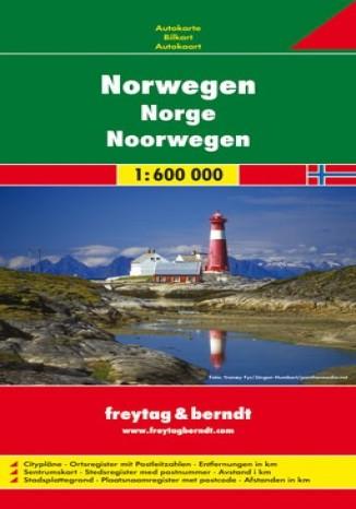 Okładka książki Norwegia mapa 1:600 000 Freytag & Berndt