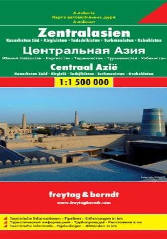 Okładka książki/ebooka Azja Środkowa (Kazachstan Pd, Kirgistan, Tadżykistan, Turkmenistan, Uzbekistan). Mapa Freytag & Berndt 1:1 500 000