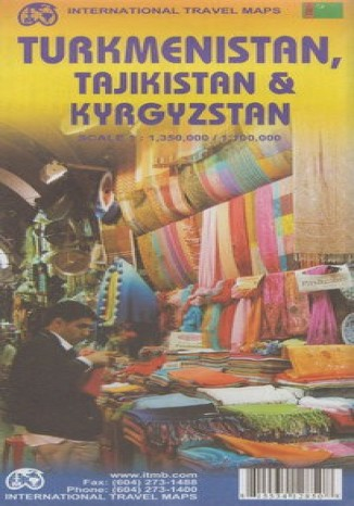 Okładka książki Turkmenistan, Tadżykistan i Kirgistan. ITMB Mapa 1:1 350 000 / 1:100 000