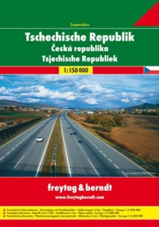 Okładka książki/ebooka Czechy. Atlas Freytag & Berndt 1:150 000