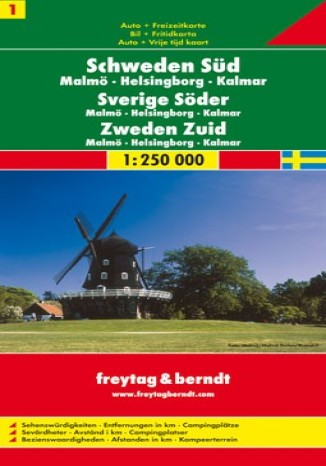 Okładka książki Szwecja Południowa (cz.1). Mapa Freytag & Berndt 1:250 000