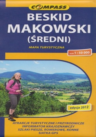 Okładka książki Beskid Makowski. Mapa Compass 1:50 000