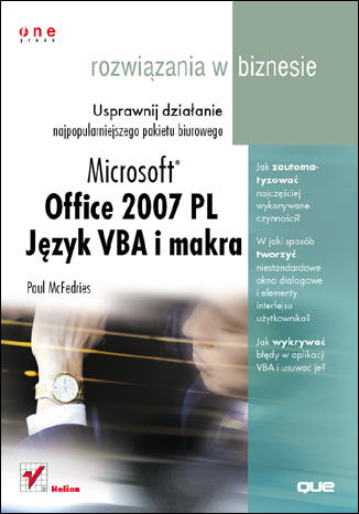 Office 2007. Język VBA i makra. Rozwiązania w biznesie