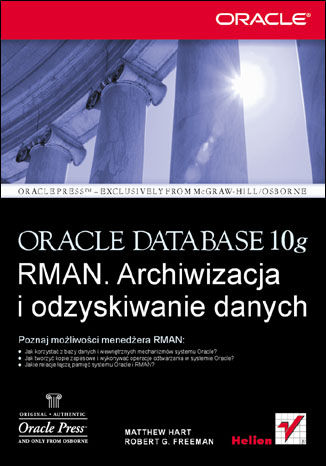 Okładka książki/ebooka Oracle Database 10g RMAN. Archiwizacja i odzyskiwanie danych