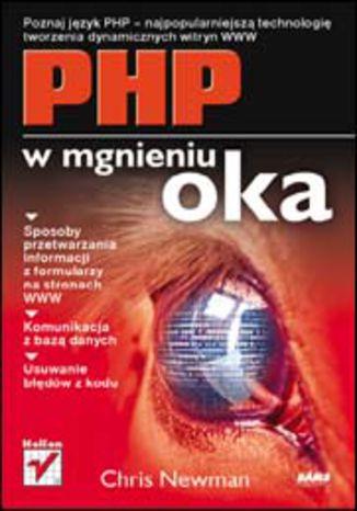 Okładka książki/ebooka PHP w mgnieniu oka