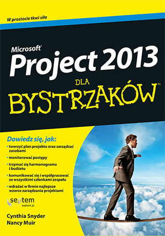 Okładka książki MS Project 2013 dla bystrzaków