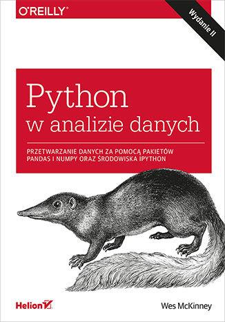 Okładka książki Python w analizie danych. Przetwarzanie danych za pomocą pakietów Pandas i NumPy oraz środowiska IPython. Wydanie II