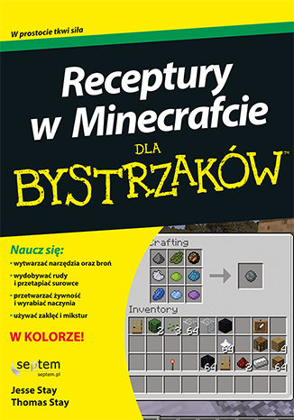 Okładka książki Receptury w Minecrafcie dla bystrzaków