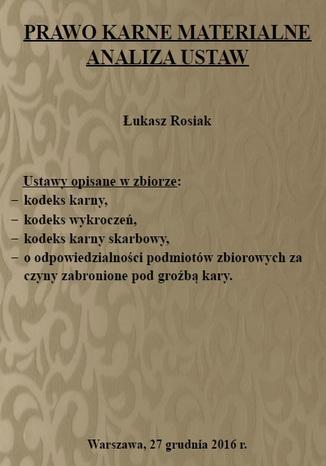 Okładka książki/ebooka Prawo karne materialne. Analiza ustaw