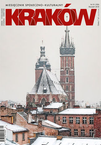 Okładka książki Miesięcznik Kraków, styczeń 2018