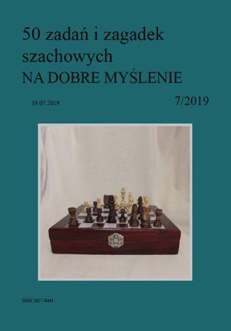 Okładka książki 50 zadań i zagadek szachowych NA DOBRE MYŚLENIE 7/2019