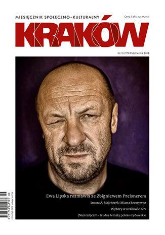 Okładka książki Miesięcznik Kraków, październik 2019