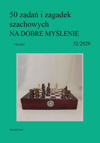 Okładka książki 50 zadań i zagadek szachowych NA DOBRE MYŚLENIE 32/2020