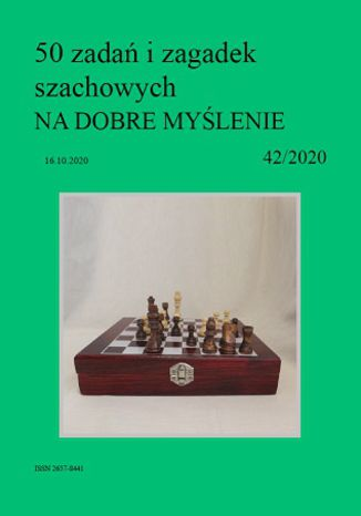 Okładka książki 50 zadań i zagadek szachowych NA DOBRE MYŚLENIE 42/2020