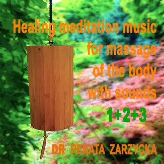 Okładka książki Uzdrawiająca muzyka medytacyjna do masażu ciała dźwiękami, do Jogi, Zen, Reiki, Ayurvedy oraz do nauki i zasypiania. Część 1, 2 i 3