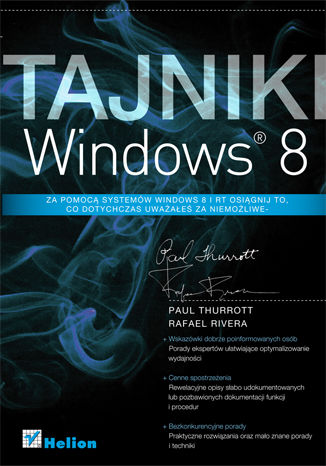 Okładka książki/ebooka Tajniki Windows 8