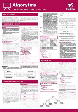 Okładka książki/ebooka Tablice informatyczne. Algorytmy