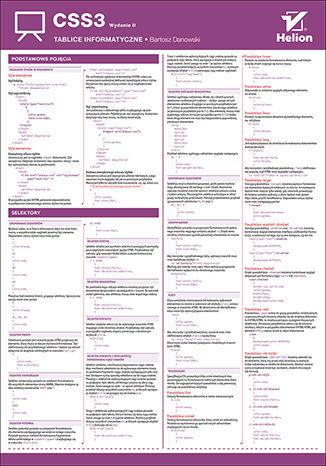 Okładka książki Tablice informatyczne. CSS3. Wydanie II