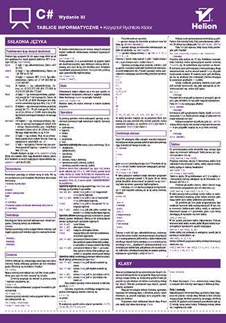 Okładka książki/ebooka Tablice informatyczne. C#. Wydanie III