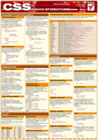 Okładka książki/ebooka Tablice informatyczne. CSS
