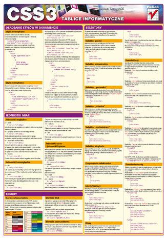 Okładka książki/ebooka Tablice informatyczne. CSS3