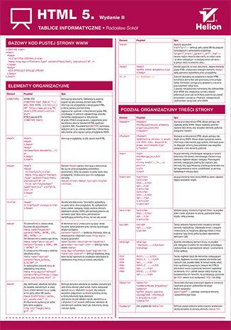 Okładka książki Tablice informatyczne. HTML 5. Wydanie II
