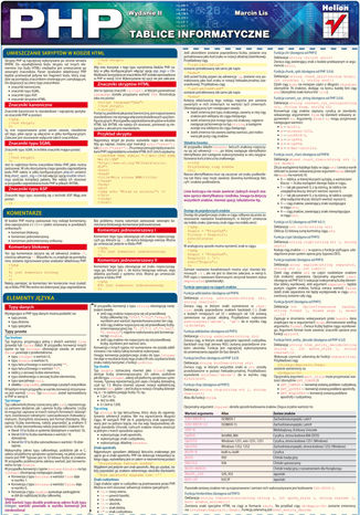 Okładka książki Tablice informatyczne. PHP. Wydanie II