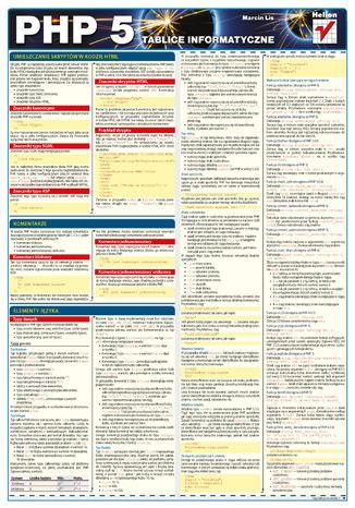 Okładka książki Tablice informatyczne. PHP 5