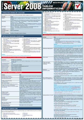 Okładka książki Tablice informatyczne. MS Windows Server 2008