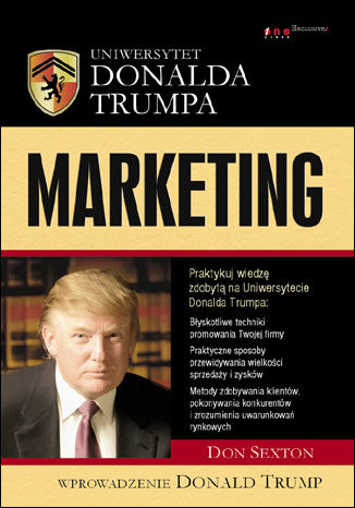 Okładka książki Uniwersytet Donalda Trumpa. Marketing