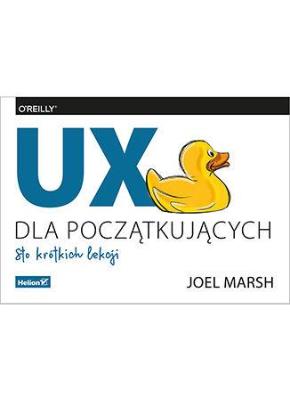 Okładka książki/ebooka UX dla początkujących. Sto krótkich lekcji