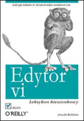 Okładka książki Edytor vi. Leksykon kieszonkowy