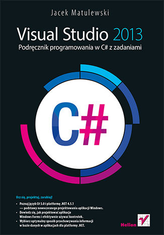 Okładka książki/ebooka Visual Studio 2013. Podręcznik programowania w C# z zadaniami