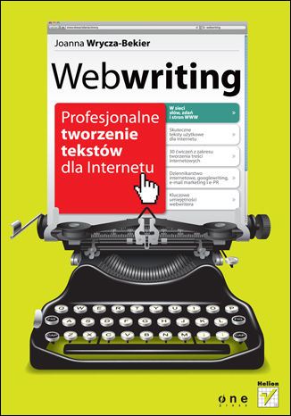 Okładka książki/ebooka Webwriting. Profesjonalne tworzenie tekstów dla Internetu