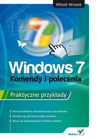 Okładka książki/ebooka Windows 7. Komendy i polecenia. Praktyczne przykłady