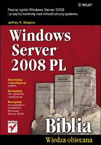 Okładka książki/ebooka Windows Server 2008 PL. Biblia