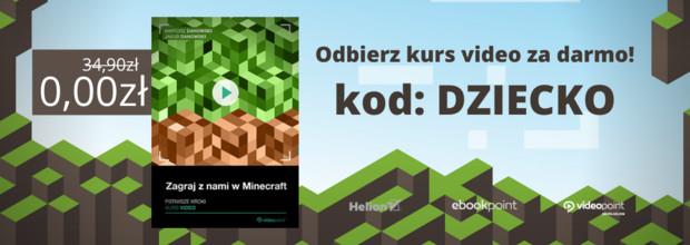 Dzień dziecka 2020 - Odbierz GRATIS kurs Minecraft!