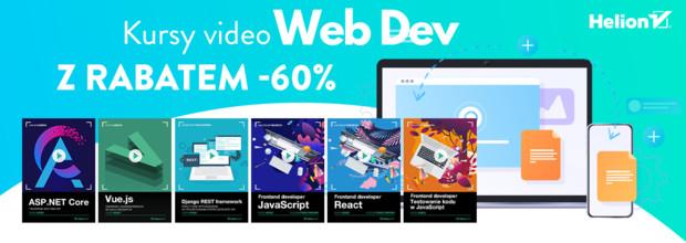 Kursy Web Dev z rabatem -60%!