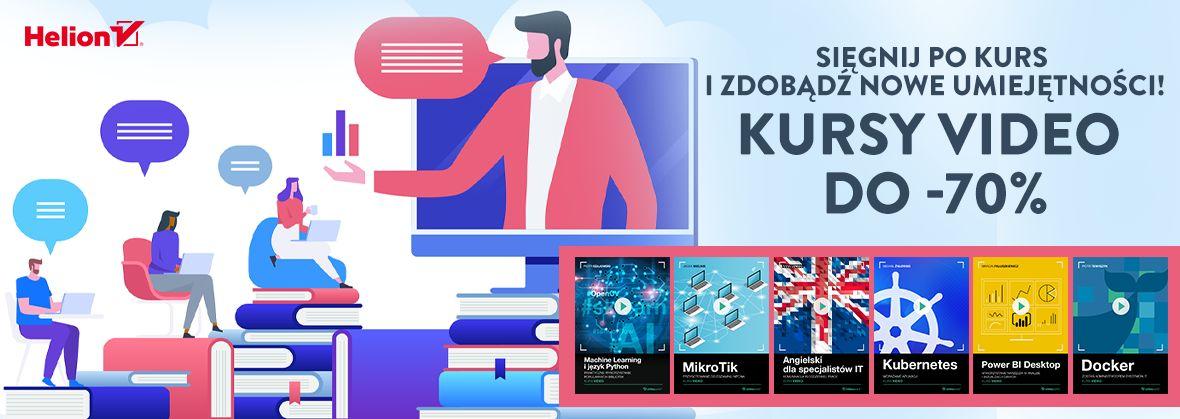 Promocja na ebooki Sięgnij po kurs i zdobądź nowe umiejętności! | Kursy video do -70%