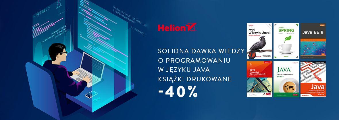 Promocja na ebooki Solidna dawka wiedzy o programowaniu w języku Java [Książki drukowane -40%]