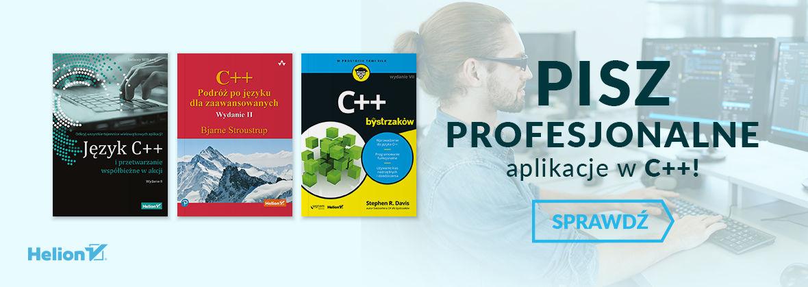 Promocja na ebooki Pisz profesjonalne aplikacje w C++!